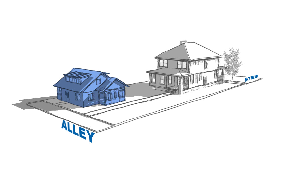graphic showing detached cottage