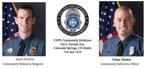 Images of CSPD Community Relations officers
