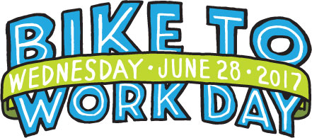 bike to work day logo with date