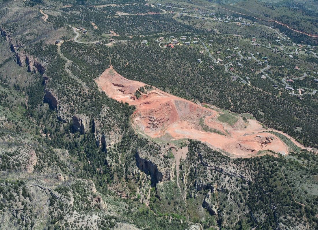 aerial view of black canyon quarry