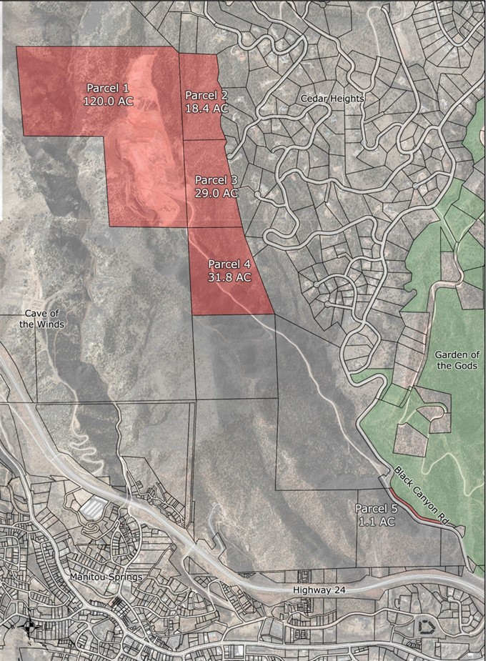 map showing black canyon parcel