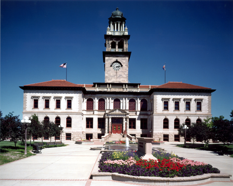 Colorado Springs Pioneers Museum: historic stone building with clocktower