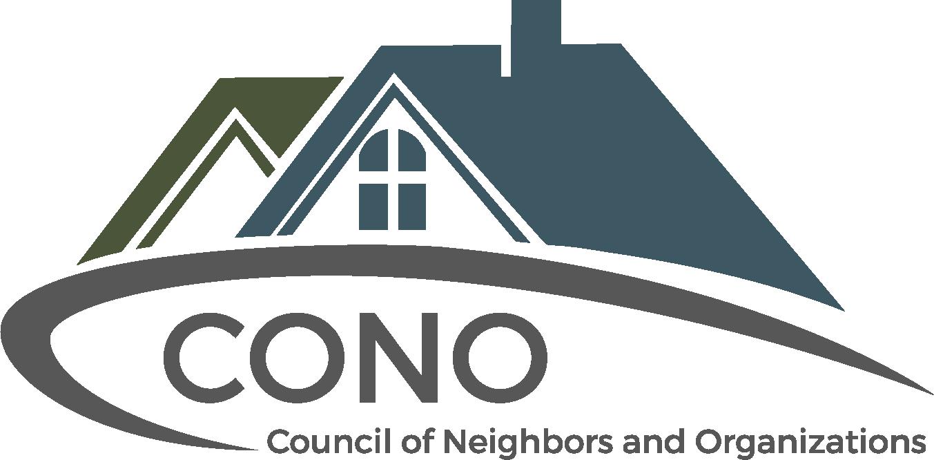 Council of Neighbors and Organizations (CONO) logo