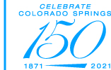 logo Celebrate Colorado Springs 150 years, 1871-2021