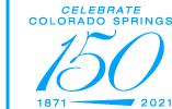 logo Celebrate Colorado Springs 150 years, 1871-2021