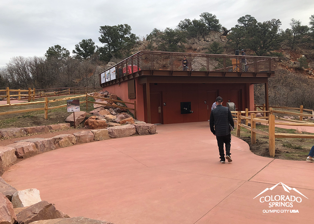 New restrooms and gathering place