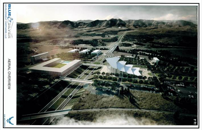 rendering of visitor center