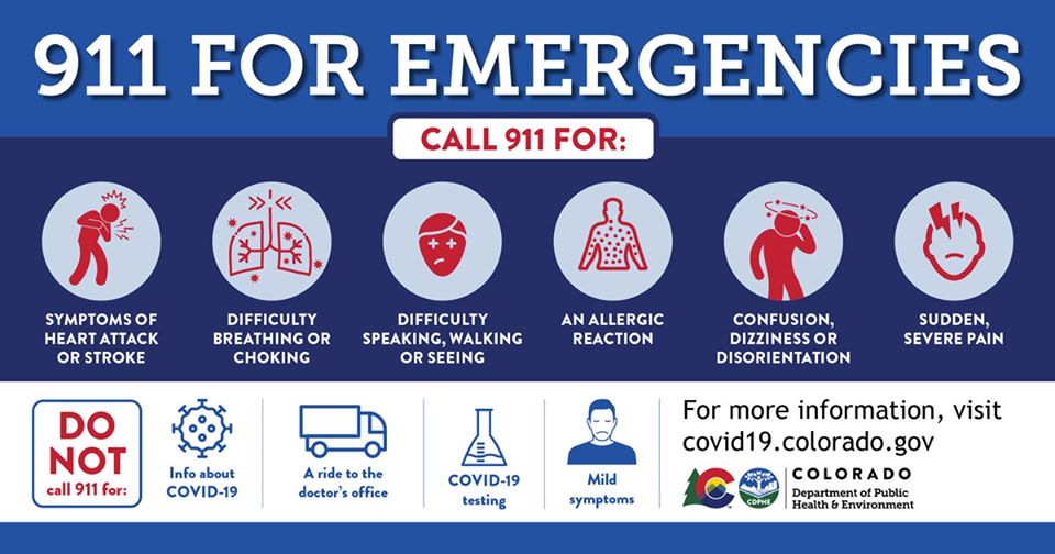 graphic when to call 911. info repeated in caption