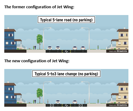 graphics of change to roadway
