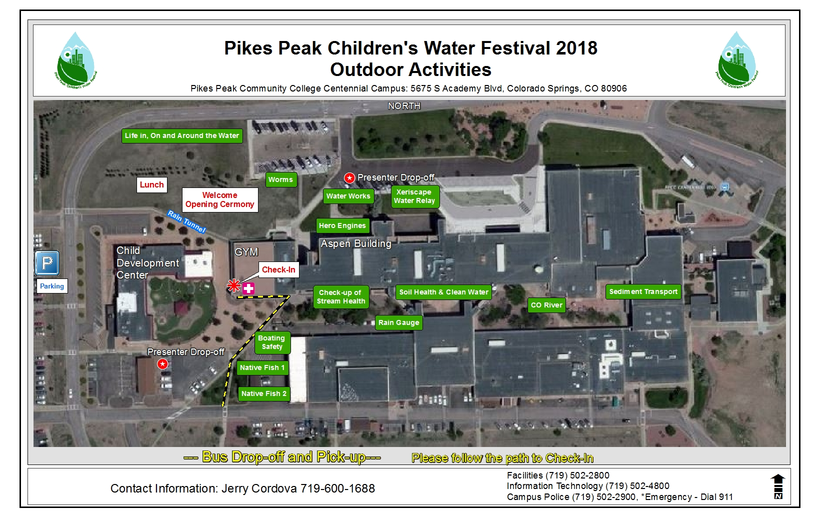 Ppcc Campus Map.Presenter Information For Pikes Peak Children S Water Festival
