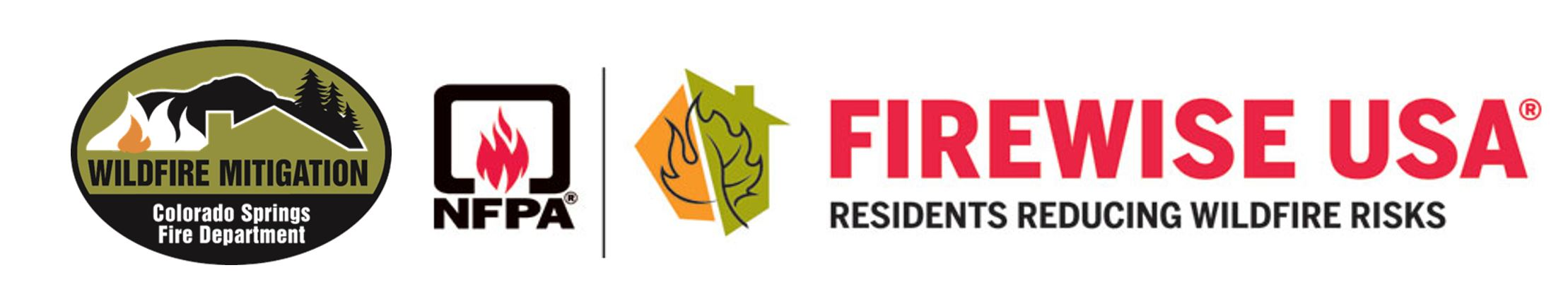 CSFD Wildfire MItigation and NFPA Firewise USA logos