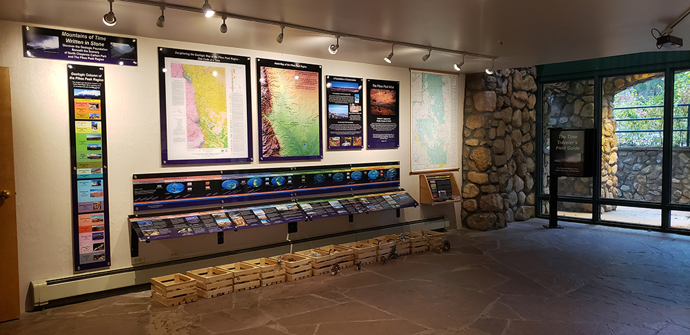 the exhibit inside the starsmore visitor and nature center.