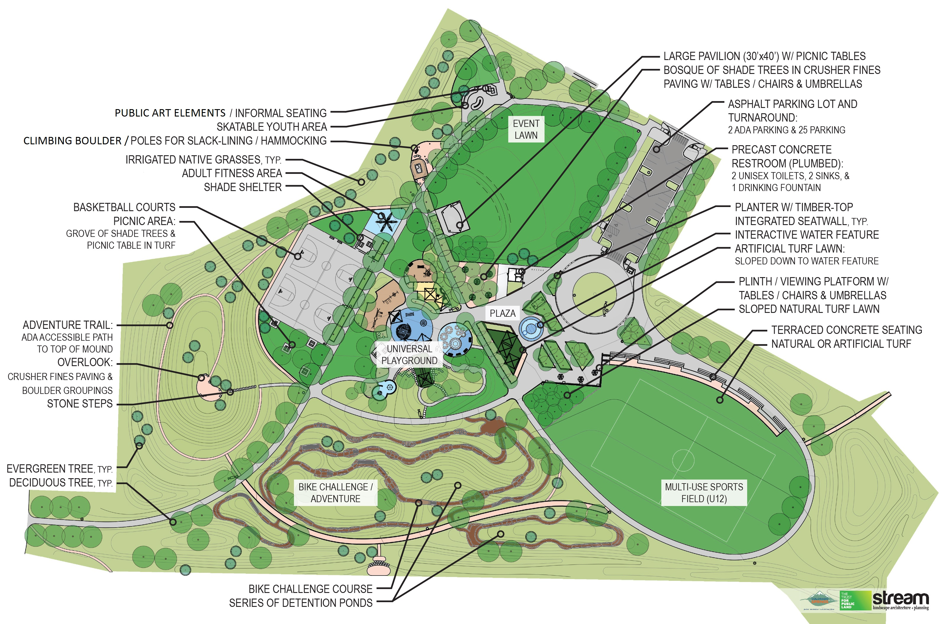 map of planned park updates