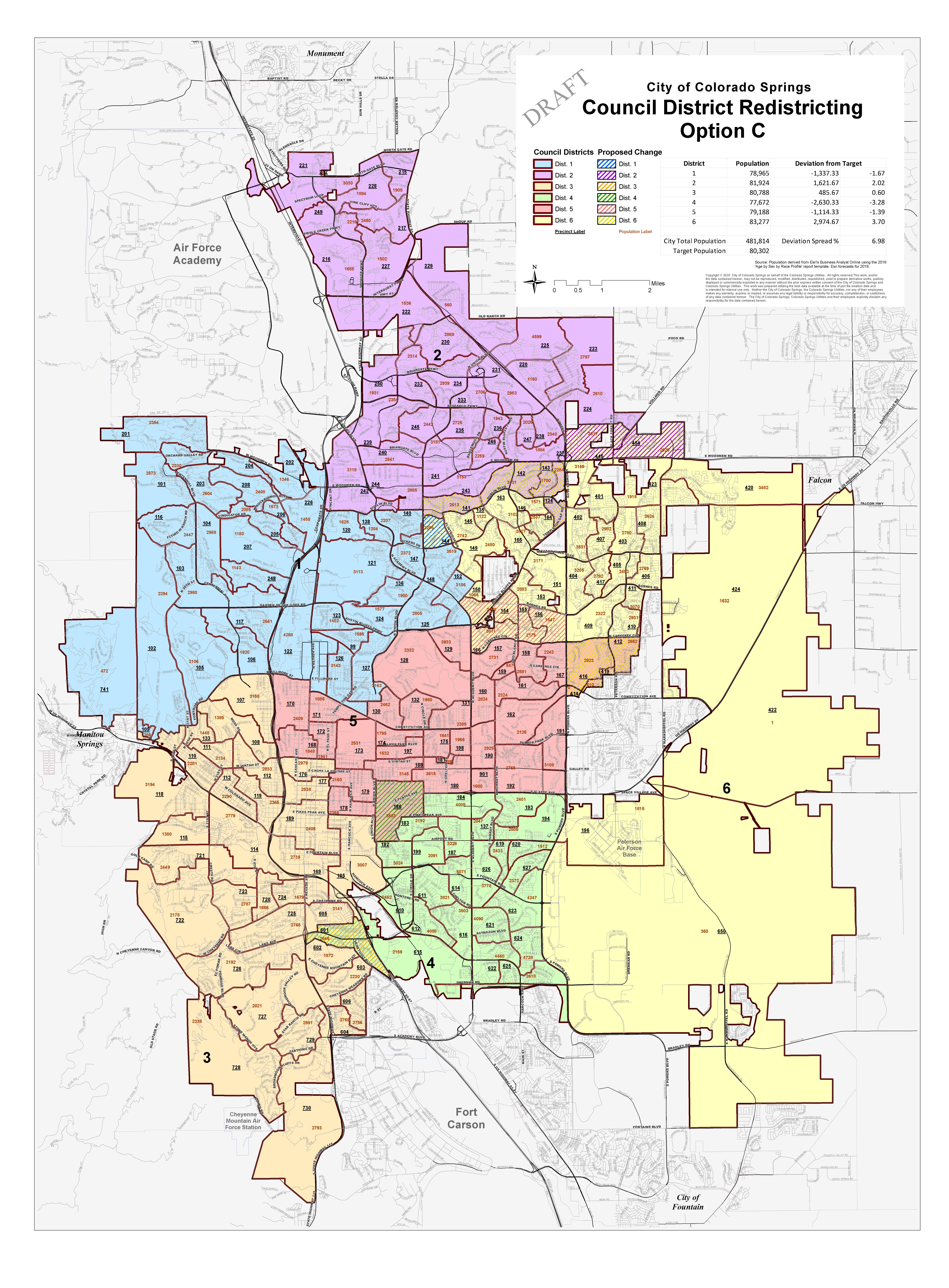 map of option c