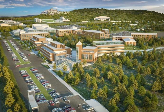 Rendering of medical campus