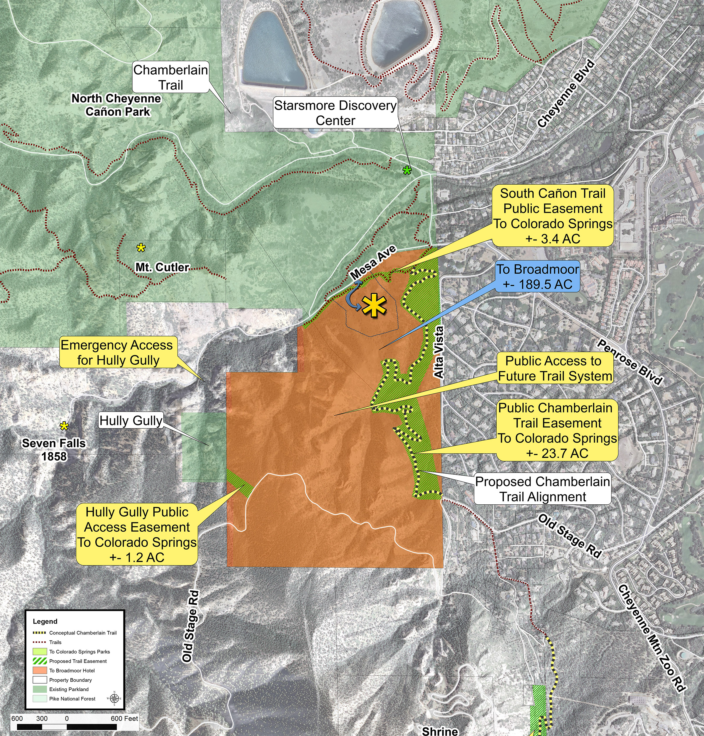 Website Site Map: North Cheyenne Cañon Park South / Strawberry Hill
