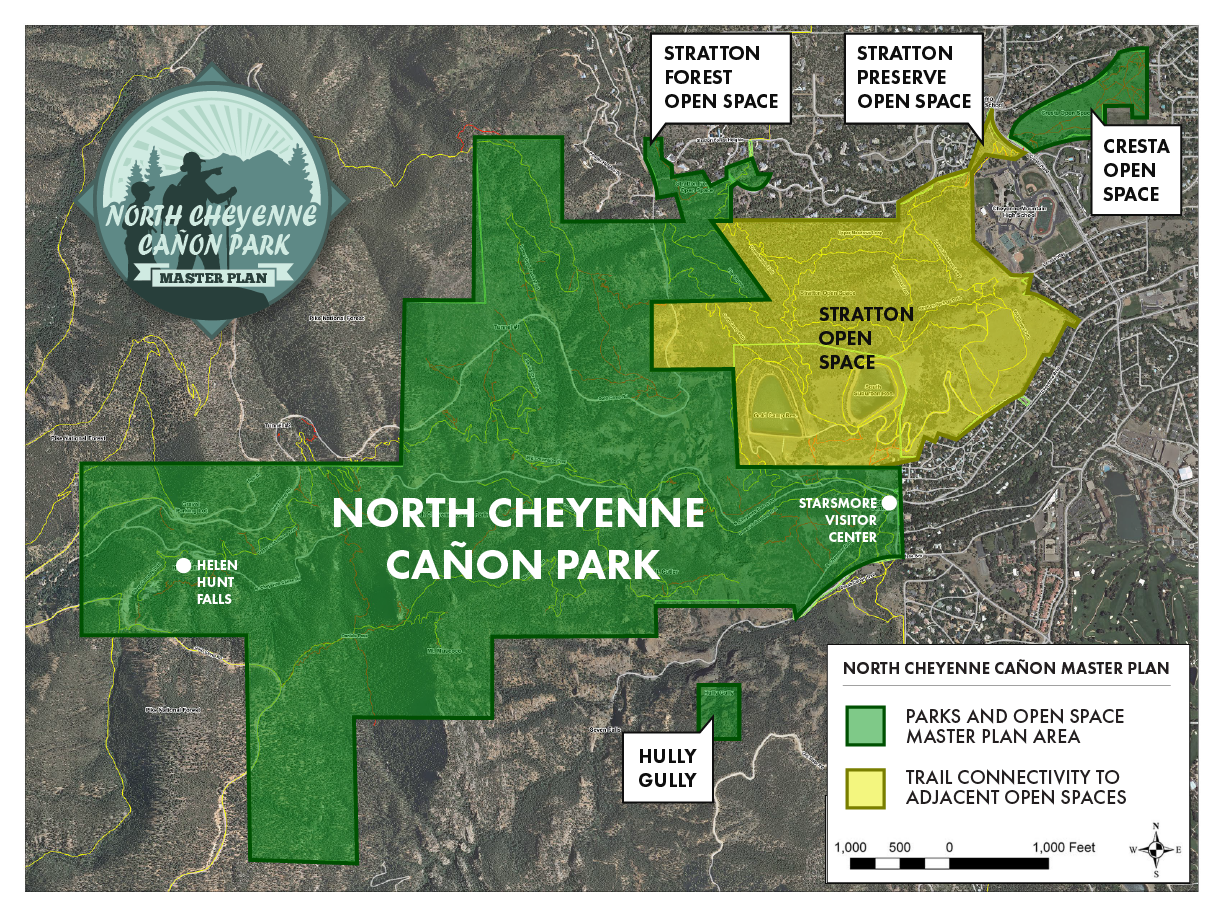 map of the master plan project area in north cheyenne canon