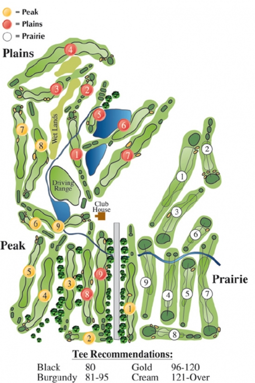 Map of Patty Jewett Golf Course