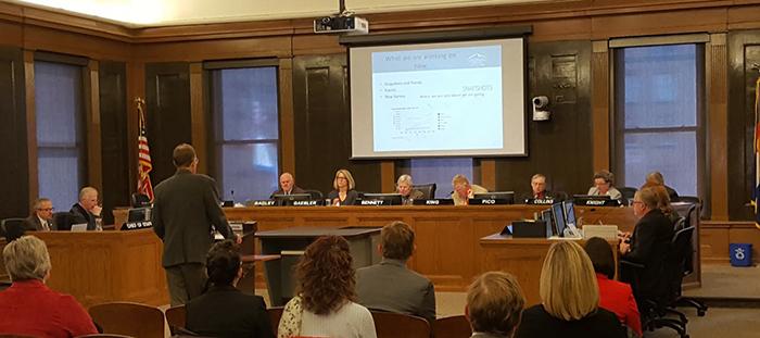 Carl Schueler giving a Plan COS update before City Council Feb 2017
