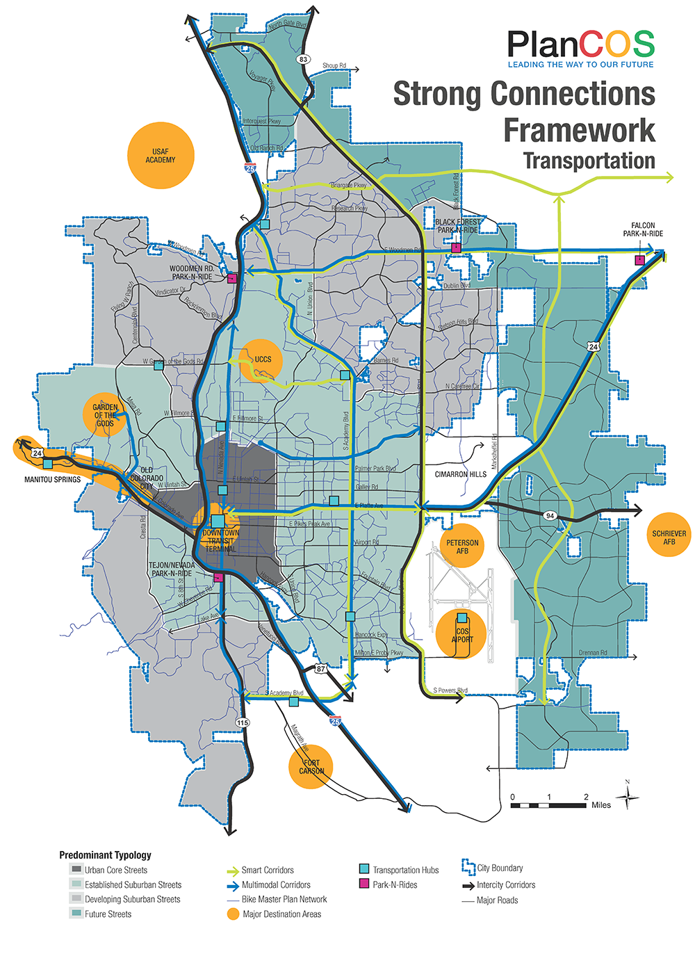 map of transportation framework