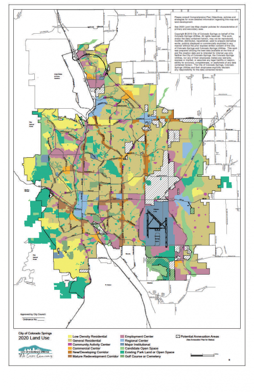 Colorado Springs Zoning Map 2001 Comprehensive Plan | Colorado Springs