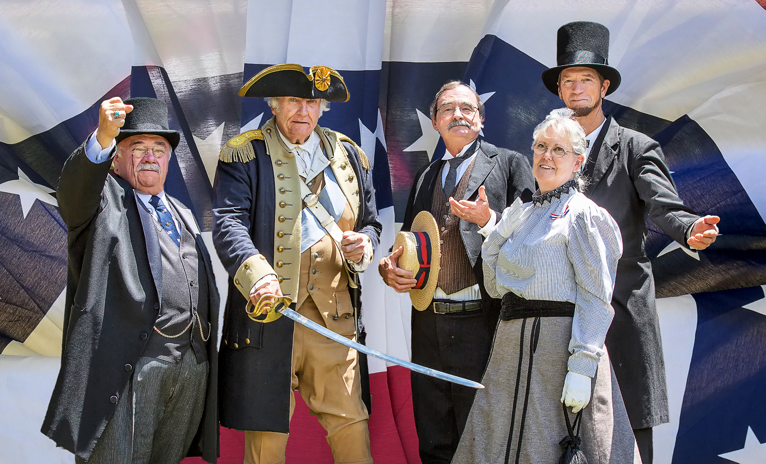Group photo of docents in costume