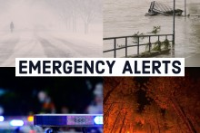 """graphic shows different kinds of emergencies. says """"emergency alerts"""""""
