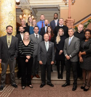 2017 mayor's young leader award nominees with Mayor Suthers