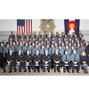 Graduating class and CSPD leadership