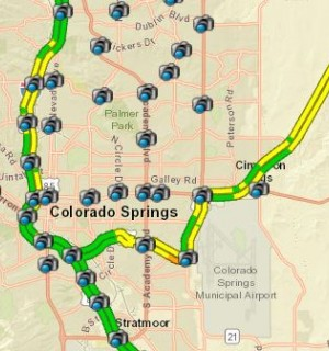 Snapshot of the traffic camera map