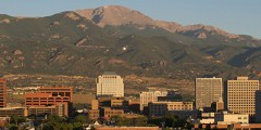 Downtown View of Colorado Springs