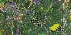 Snap shot of Public Works interactive map