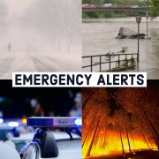 "graphic shows different kinds of emergencies. says ""emergency alerts"""