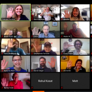 previews of participants in group video chat