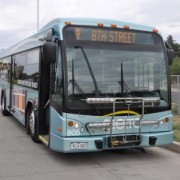 front of bus