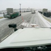 snow plow driver view of road