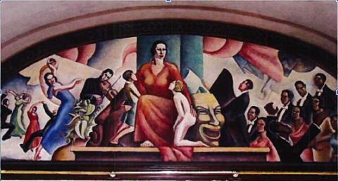 Mural at the City Auditorium