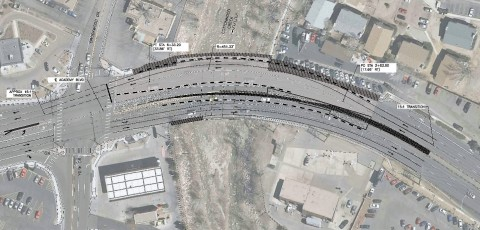 Ariel view of construction project