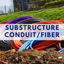 image with the text: Substructure conduit/ fiber