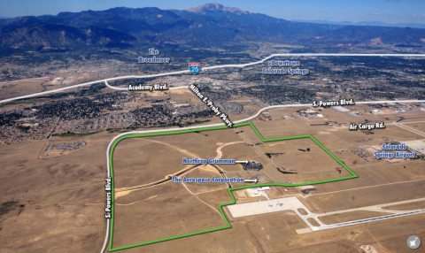 Aerial view of peak innovation park