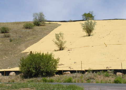 Example of grading and erosion control