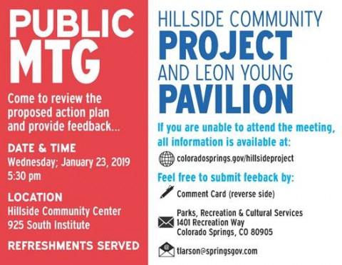 Flyer for hillside meeting project