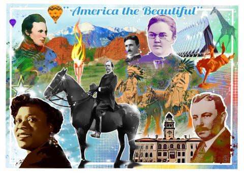illustration of colorado springs history