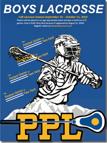 flyer for lacrosse camp info