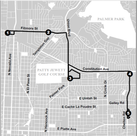 map of route change