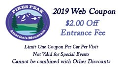 2019 Web Coupon click link to download and get $2.00 off entrance fee to Pikes Peak