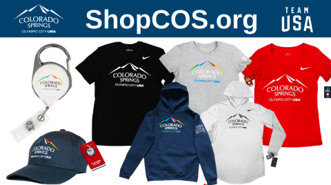 shopcos.org city and team usa logos. various Olympic City USA clothing