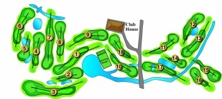 Map of Valley Hi Golf Course