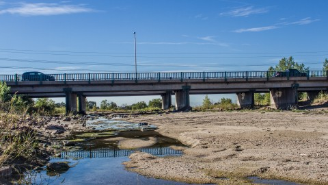 Side view of Platte Ave bridge from Sand Creek
