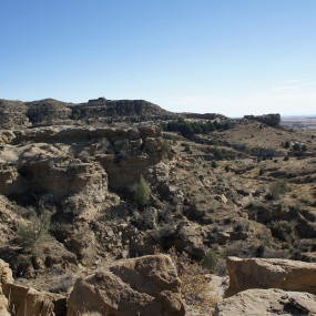 Rocky landscape of Corral Bluffs